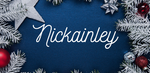 Free font for Christmas - Nickainley font