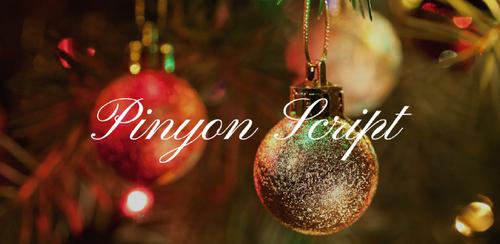 Free font for Christmas - Pinyon Script font