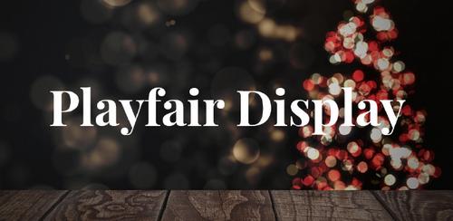 Free font for Christmas - Playfair Script font