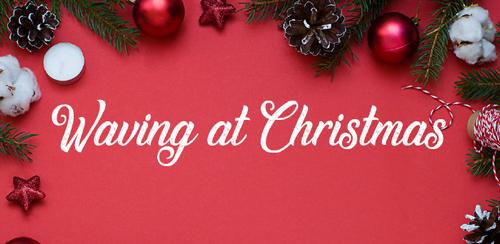 Free font for Christmas - Waving at Christmas font