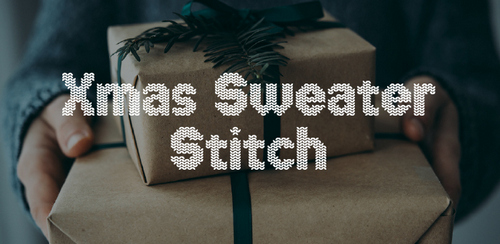 Free font for Christmas - Xmas Sweater Stitch font