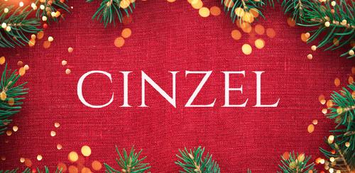 Free font for Christmas - Cinzel font