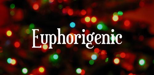 Free font for Christmas - Euphorigenic font