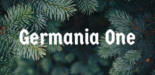 Free font for Christmas - Germania One font