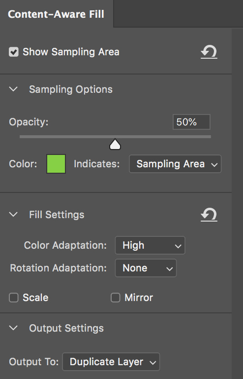 Why the New Photoshop Content-Aware Fill Is Insanely Powerful — Sampling Area