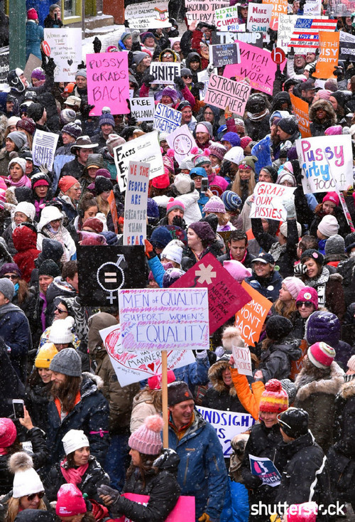 15 Priceless Photos from the Sundance Film Festival — Women's Solidarity March