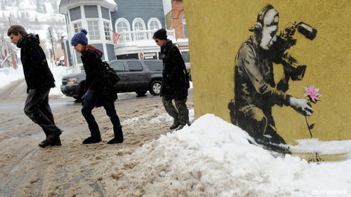 15 Priceless Photos from the Sundance Film Festival — Banksy