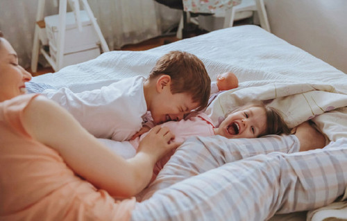 Lifestyle Images - Kids on Bed