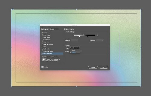 Create a Holographic Foil Effect in Adobe Photoshop — Gradient Feather
