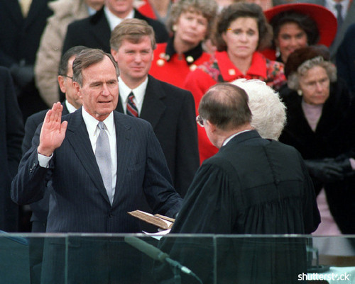 Incredible Moments from Super Bowl History, In Pictures — George H. W. Bush Inauguration