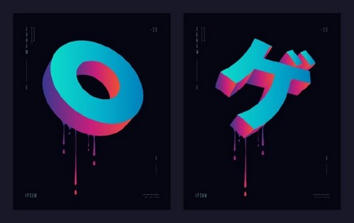 Use 2019's Most Popular Colors in Your On-Trend Designs — 3D Type and Logos