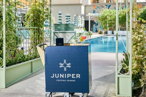 Park MGM Pool - Juniper Cocktail Lounge Cart_credit MGM Resorts International