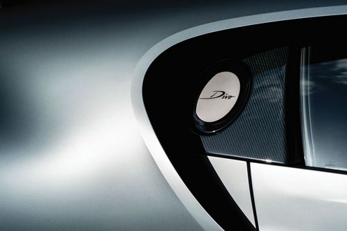 The Divo is not only bold in design, but in the materials used. Lightweight carbon fiber plays a significant role in strengthening the vehicle and reducing the car's overall weight, but the aesthetic beauty of the futuristic material is celebrated and highlighted, rather than ignored, making the Divo a sight to see, at speed or stationary.
