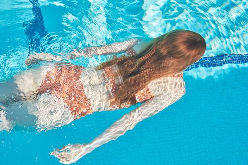 February Fresh - Redhead Swimming