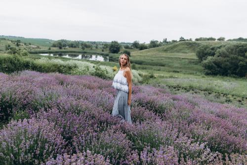February Fresh - Girl in Lavender