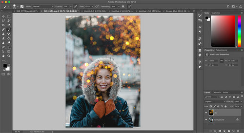 20 Free Bokeh and Light Overlays for Design — Rasterize Smart Object