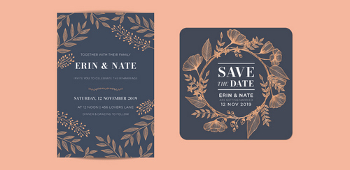 Wedding Ideas: 18 Free and Unique Wedding Fonts for Invitations — Bodoni and Montserrat Inspiration