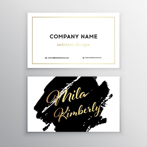free brush script fonts lyric business card
