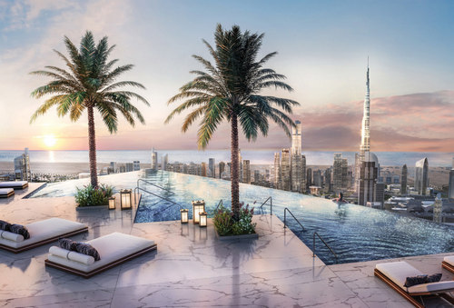 SLS Dubai_Rooftop Pool