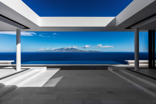 Silver House by Olivier Dwek Architects, Ionian Islands, Greece