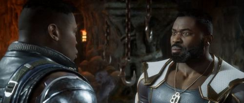 Young Jax vs. old Jax in Mortal Kombat 11.