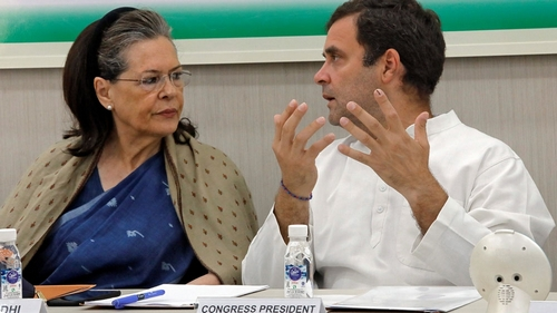Rahul and Sonia Gandhi