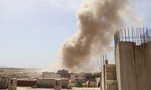 'Idlib is a bargaining chip': civilians brace as Assad air assault escalates