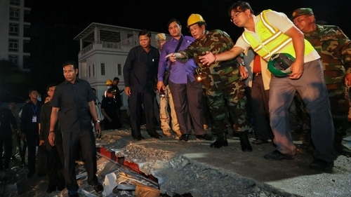 Official sacked over Cambodia building collapse as toll hits 28