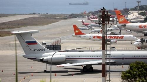 Russian air force plane lands in Venezuela