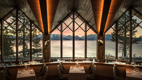 The view of Lake Tahoe from the Edgewood Restaurant.