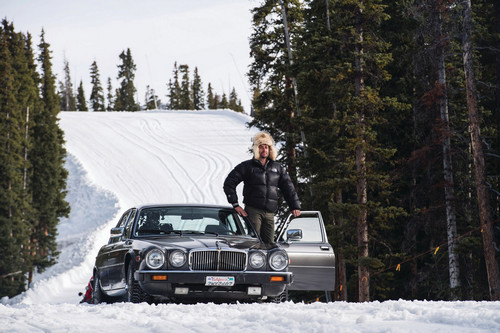 A recent episode brought the men to Colorado to test old Jaguar cars in inhospitable terrain, such as a ski trail.
