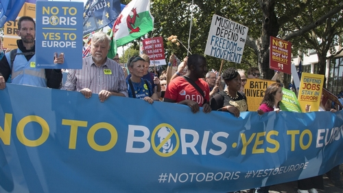 'Boris blimp' at London rally as thousands march against Brexit