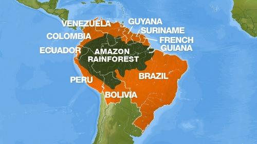 The Amazon Rainforest - Map