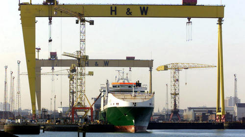 Harland and Wolff workers go back to work after shipyard saved
