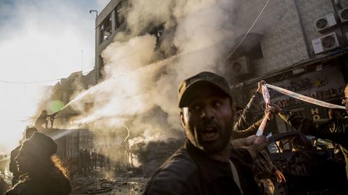 3-bolt blasts kill at least eight in Syrian town next Turkey