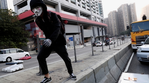 Hk protester shot in way confrontation with police